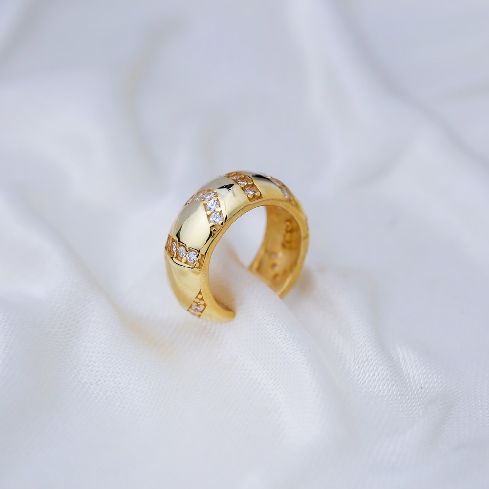 Cartilage Single Earring Turkish 925 Silver Sterling Jewelry