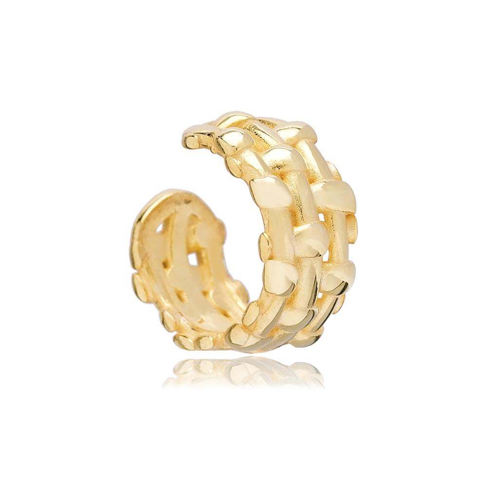 New Design Cartilage Single Earring Wholesale Handmade Turkish 925 Silver