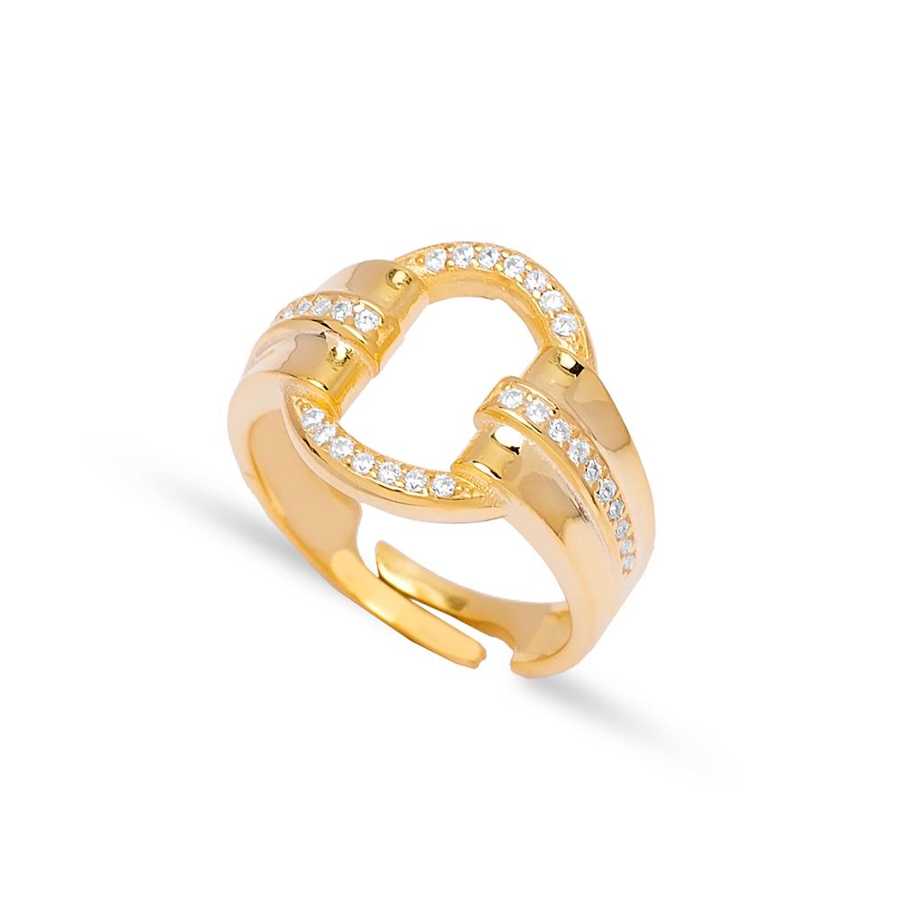 Unique Design Zircon Stone Adjustable Open Ring Handmade 925 Silver Sterling Jewelry