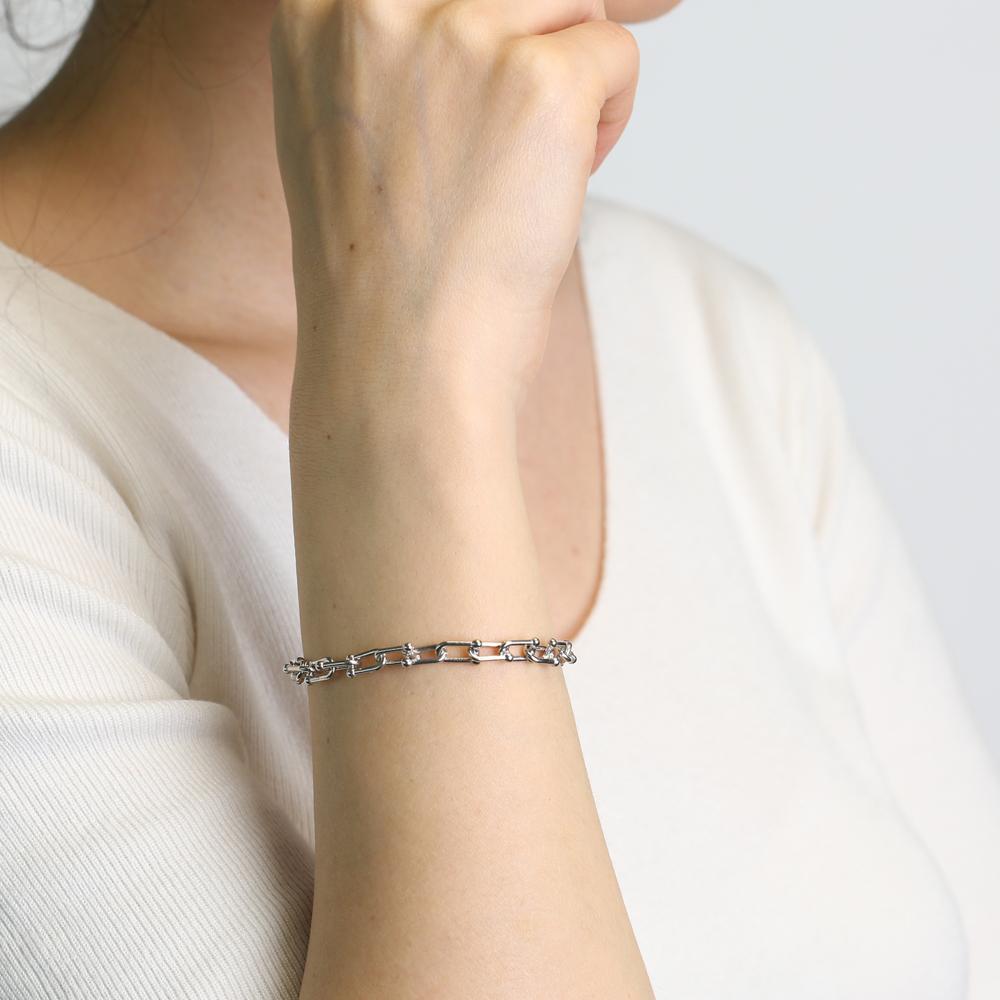 Delicate Chain Bracelet Turkish Wholesale 925 Sterling Silver Jewelry