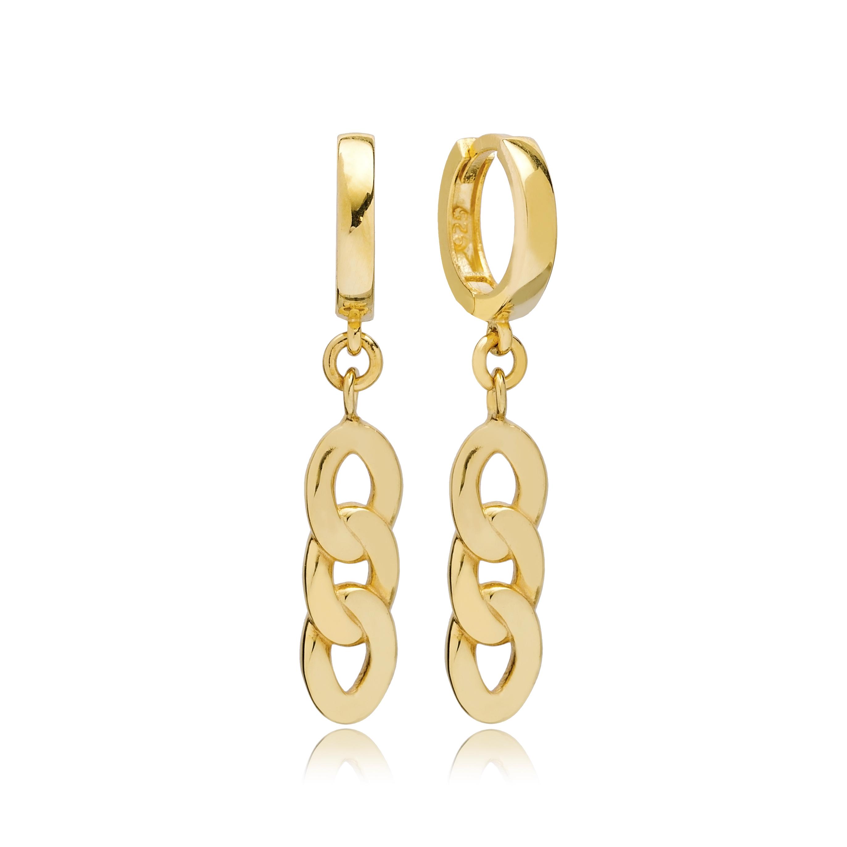Rope Design Charm Dangle Earring Turkish Handmade 925 Sterling Silver Jewelry