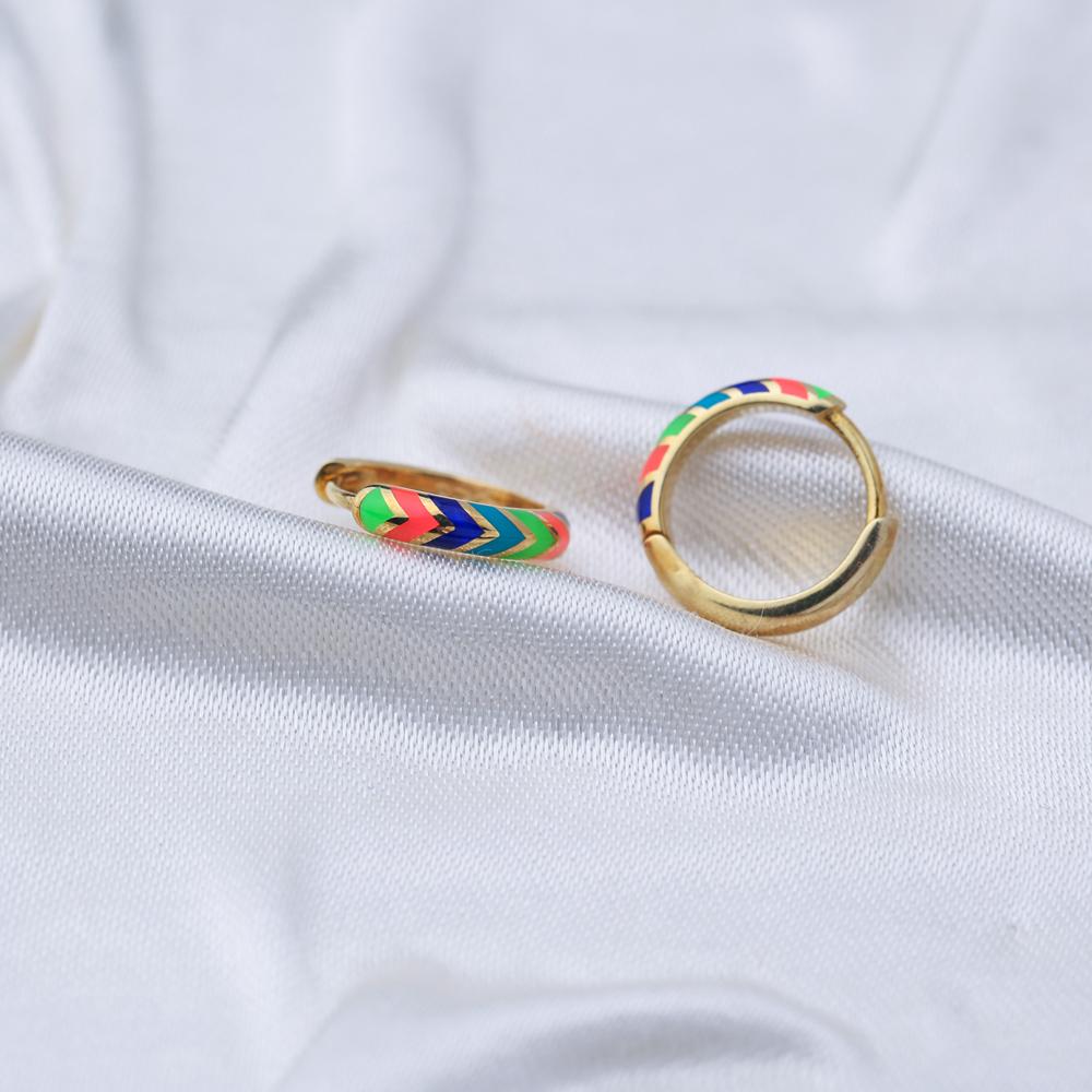 Colorful Neon Enamel Wholesale Turkish 925 Sterling Silver Earrings
