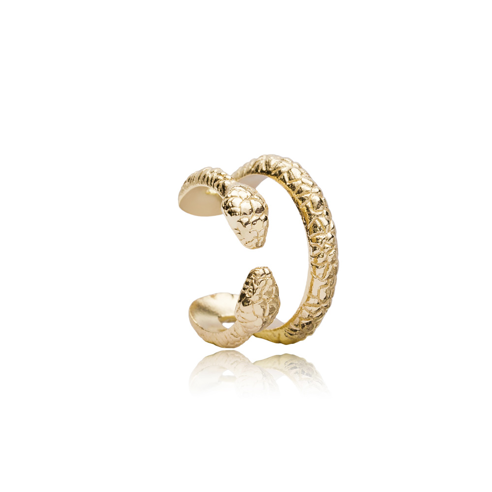 Two Head Snake Shape Cartilage Earring Wholesale Turkish 925 Sterling Silver Jewelry