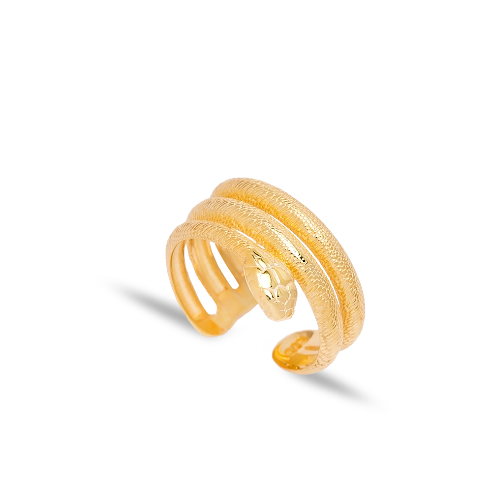 Snake Design Adjustable Ring Turkish Wholesale 925 Sterling Silver Jewelry