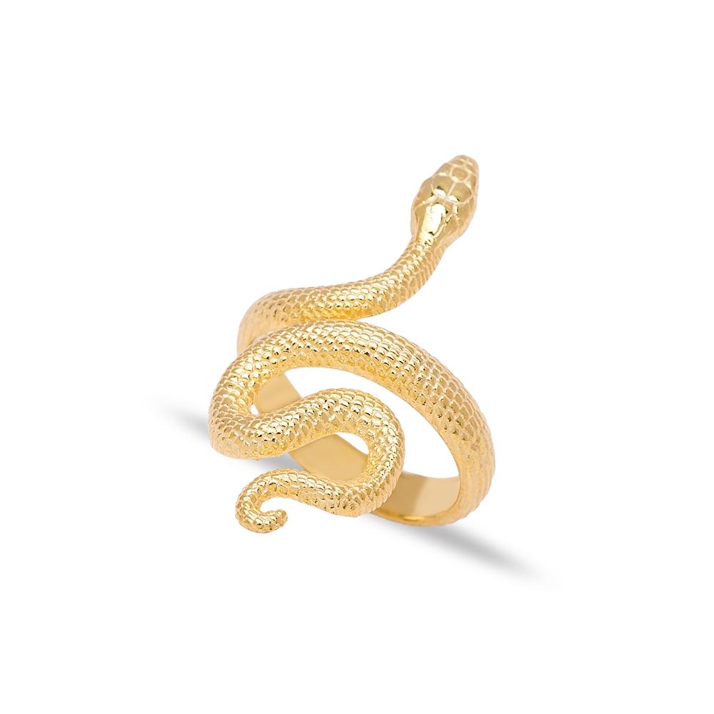 Snake Design Turkish Wholesale 925 Sterling Silver Adjustable Ring