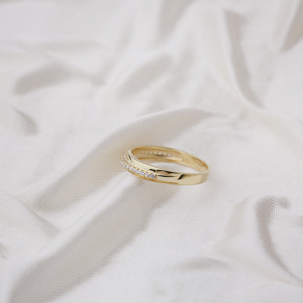 Micro Pave Zirconia Stone Band Ring Wholesale Handcrafted Silver Jewelry