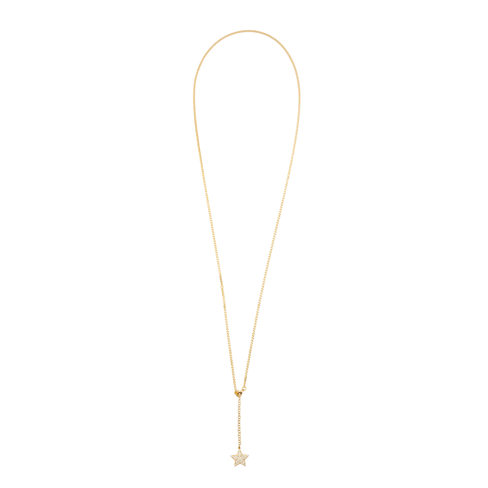 Single Belly Chain Trendy Star Charm Zircon Stone Turkish 925 Sterling Silver Body Jewelry