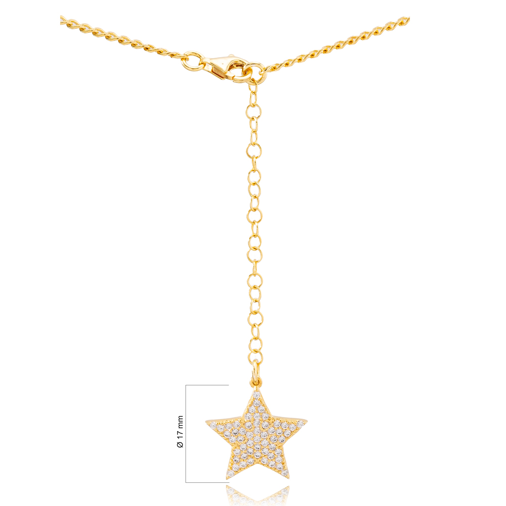 Single Belly Chain Trendy Star Charm Handcrafted 925 Sterling Silver Body Jewelry