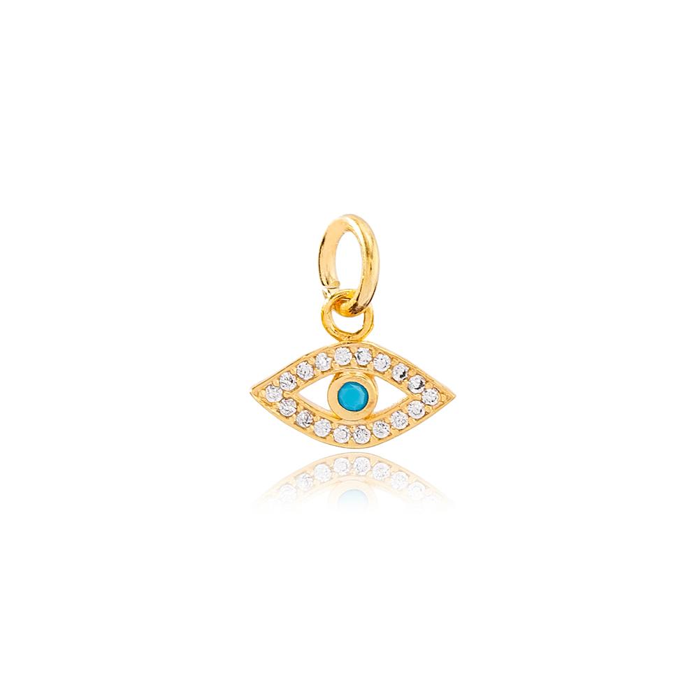 Trendy Evil Lucky Eye Charm Charm Wholesale Handmade Turkish 925 Silver Sterling Jewelry