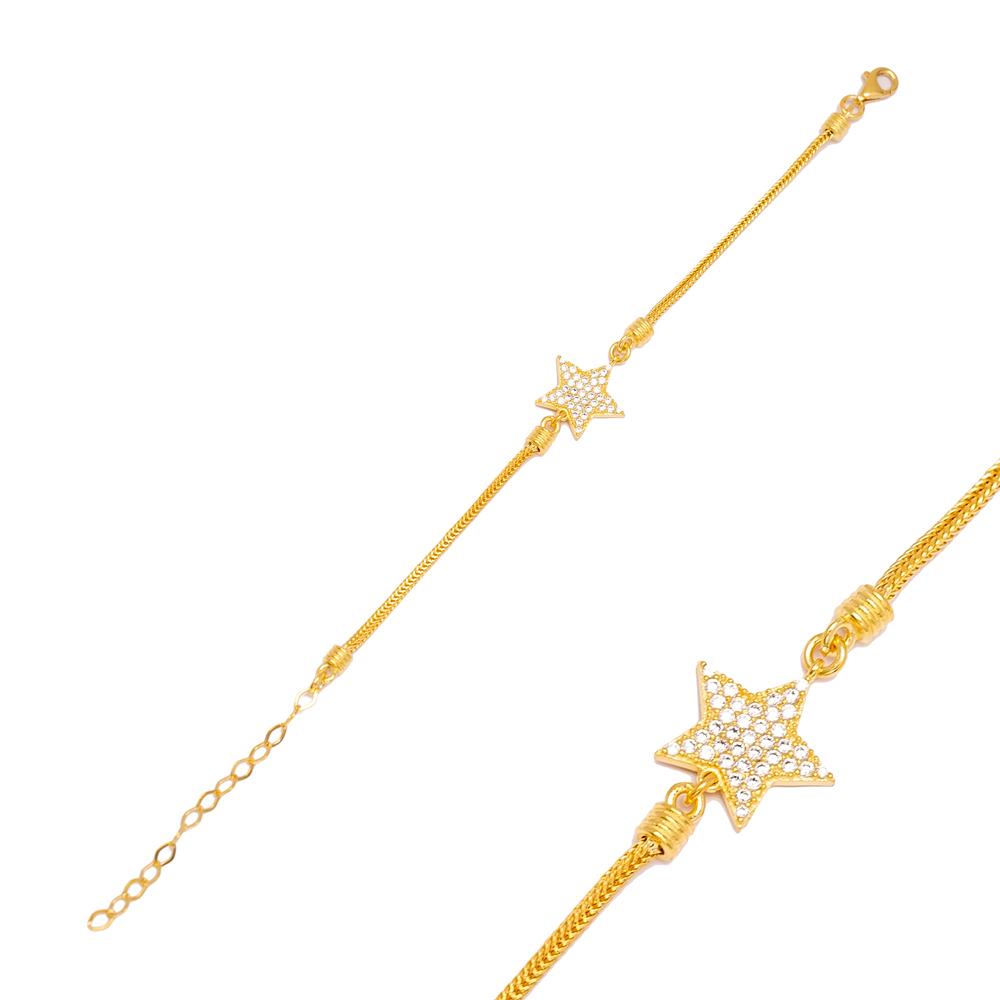 Star Charm 925 Sterling Silver Handmade Wholesale Turkish Charm Bracelet  Jewelry