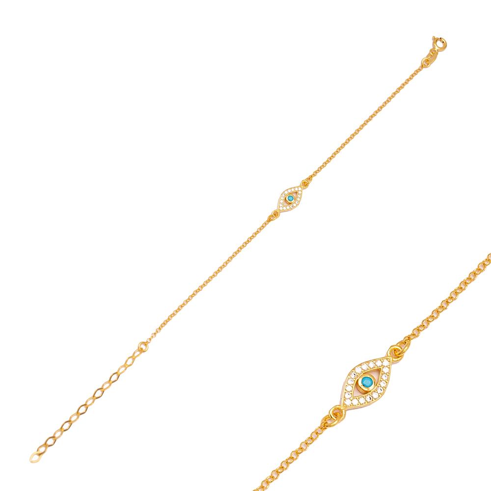 Evil Eye Charm 925 Sterling Silver Handmade Wholesale Turkish Charm Bracelet  Jewelry