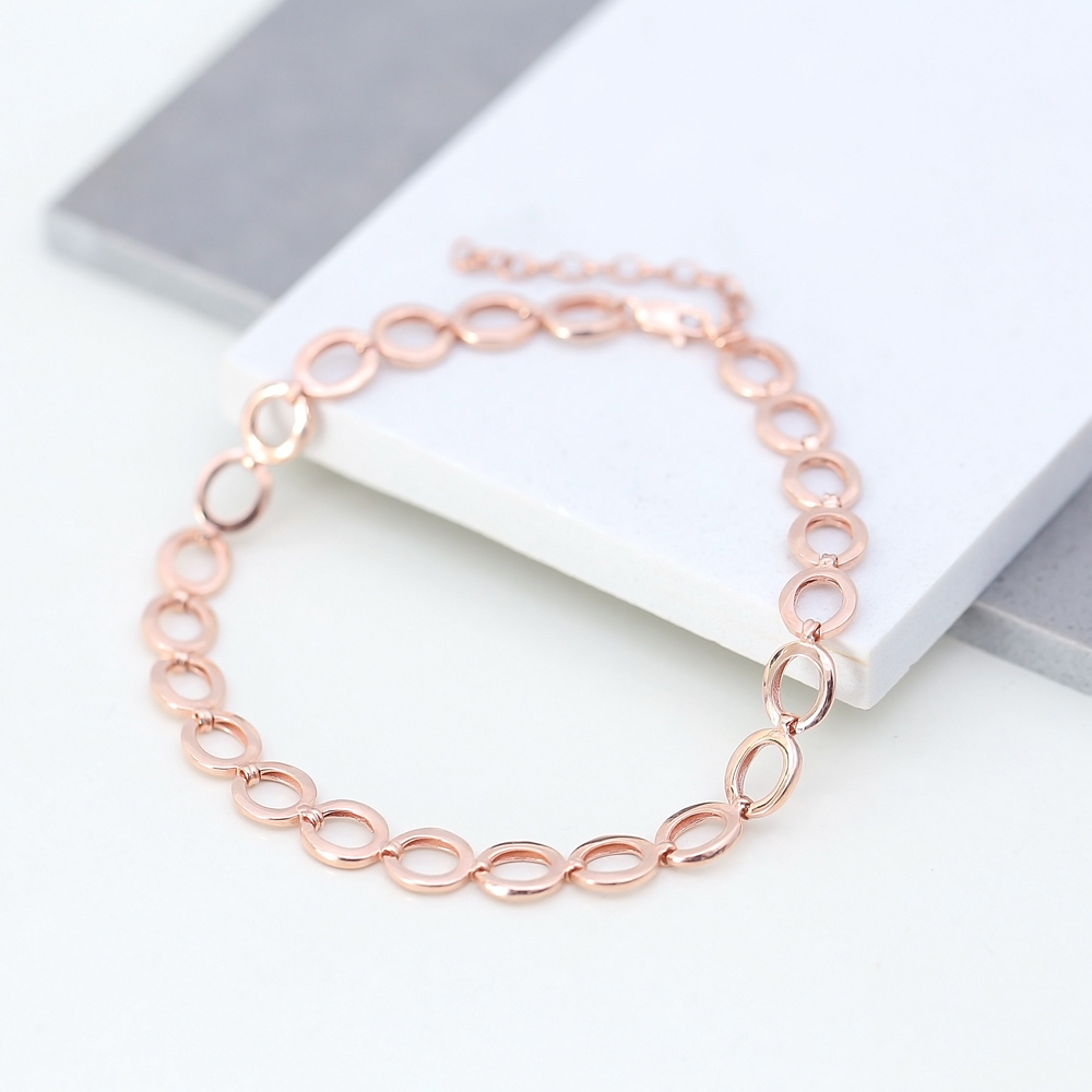 Dainty Silver Round Chain Anklet Wholesale Handmade Turkish 925 Sterling Silver Jewelry