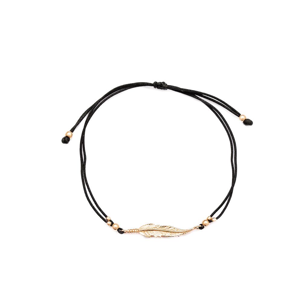 Leaf Design Handmade Adjustable Turkish Wholesale Silver Knitting Bracelet