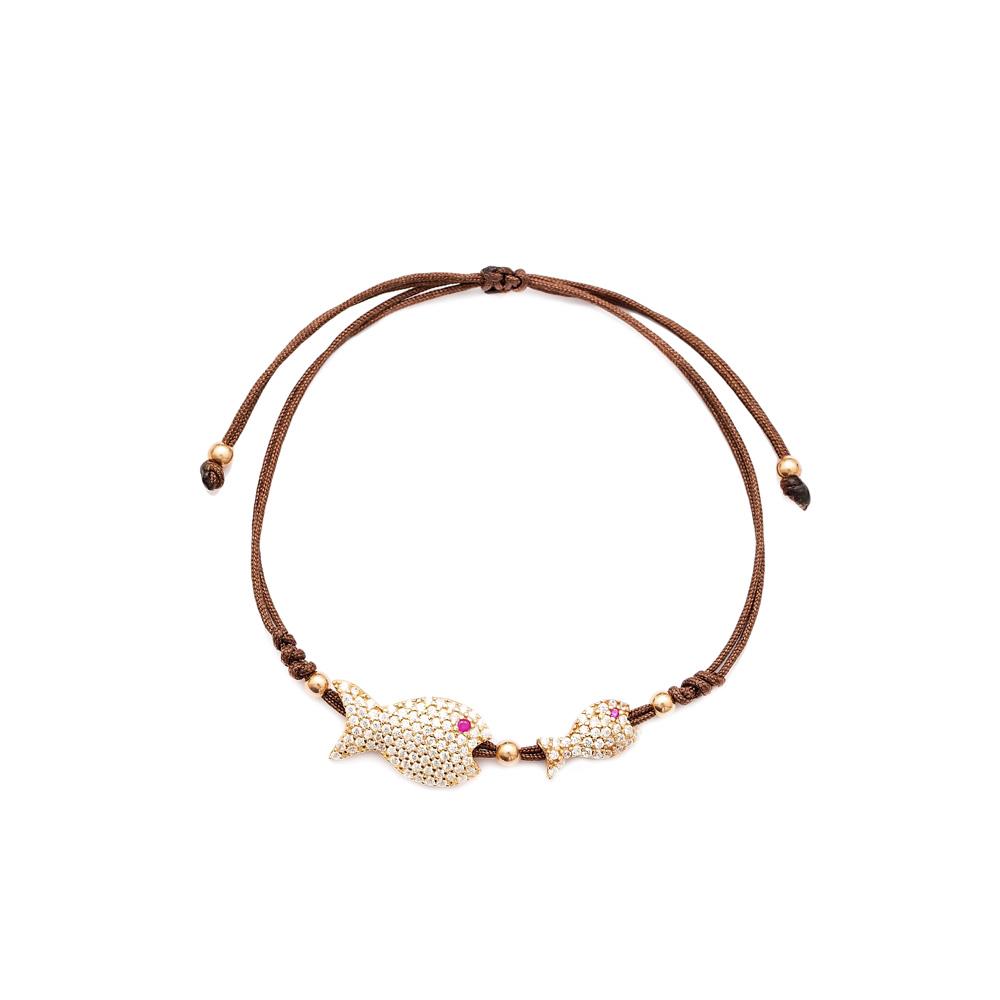 Fish Design Handmade Adjustable Turkish Wholesale Silver Knitting Bracelet