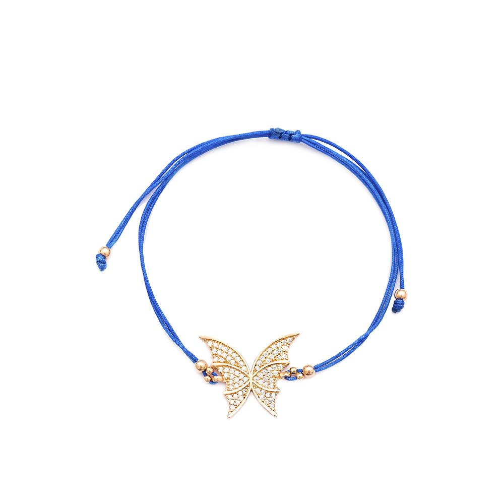 Butterfly Design Handmade Adjustable Turkish Wholesale Silver Knitting Bracelet