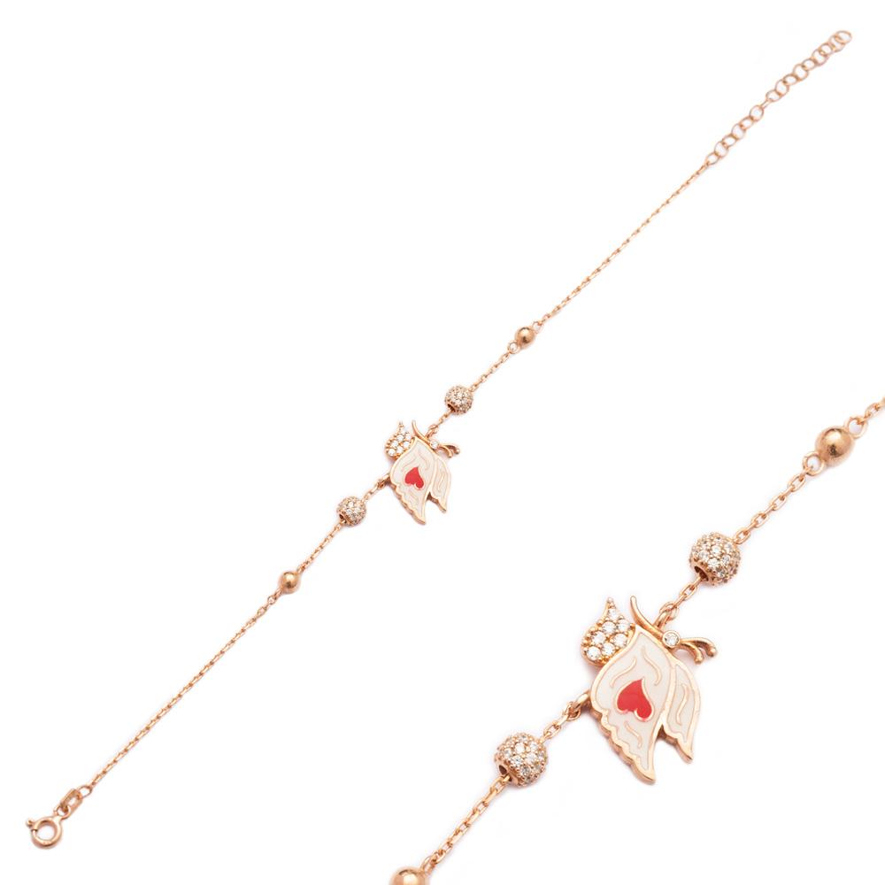 Enamel Butterfly Design Bracelet Wholesale 925 Sterling Silver Jewelry