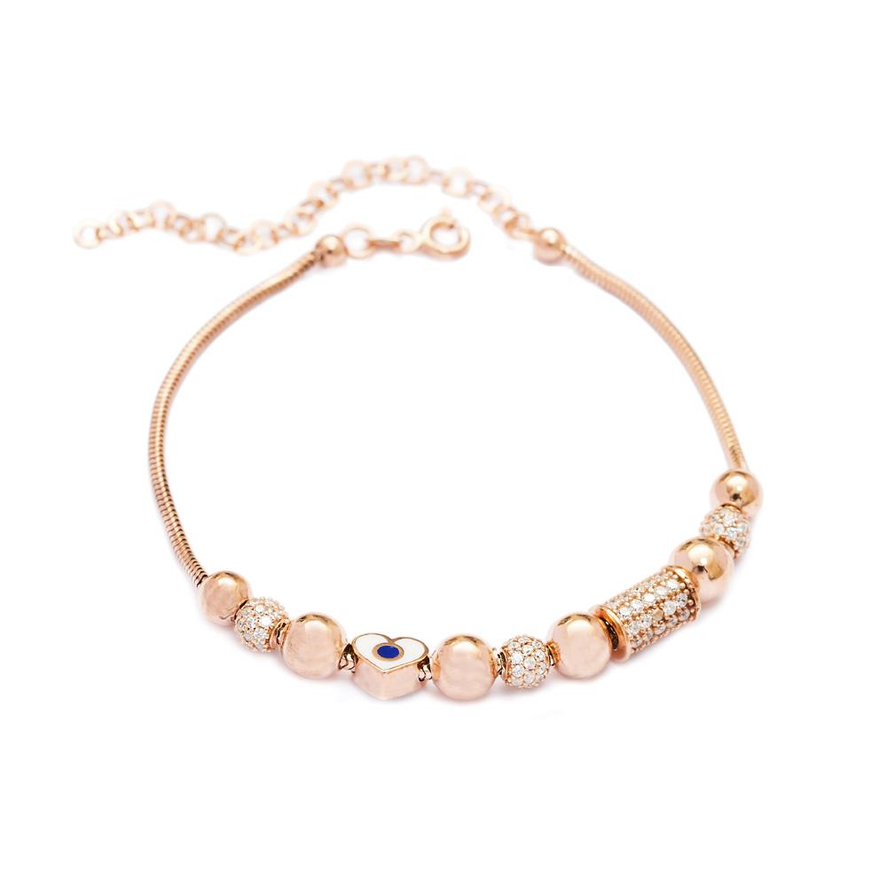 Enamel Charm Bracelet Wholesale 925 Sterling Silver Jewelry