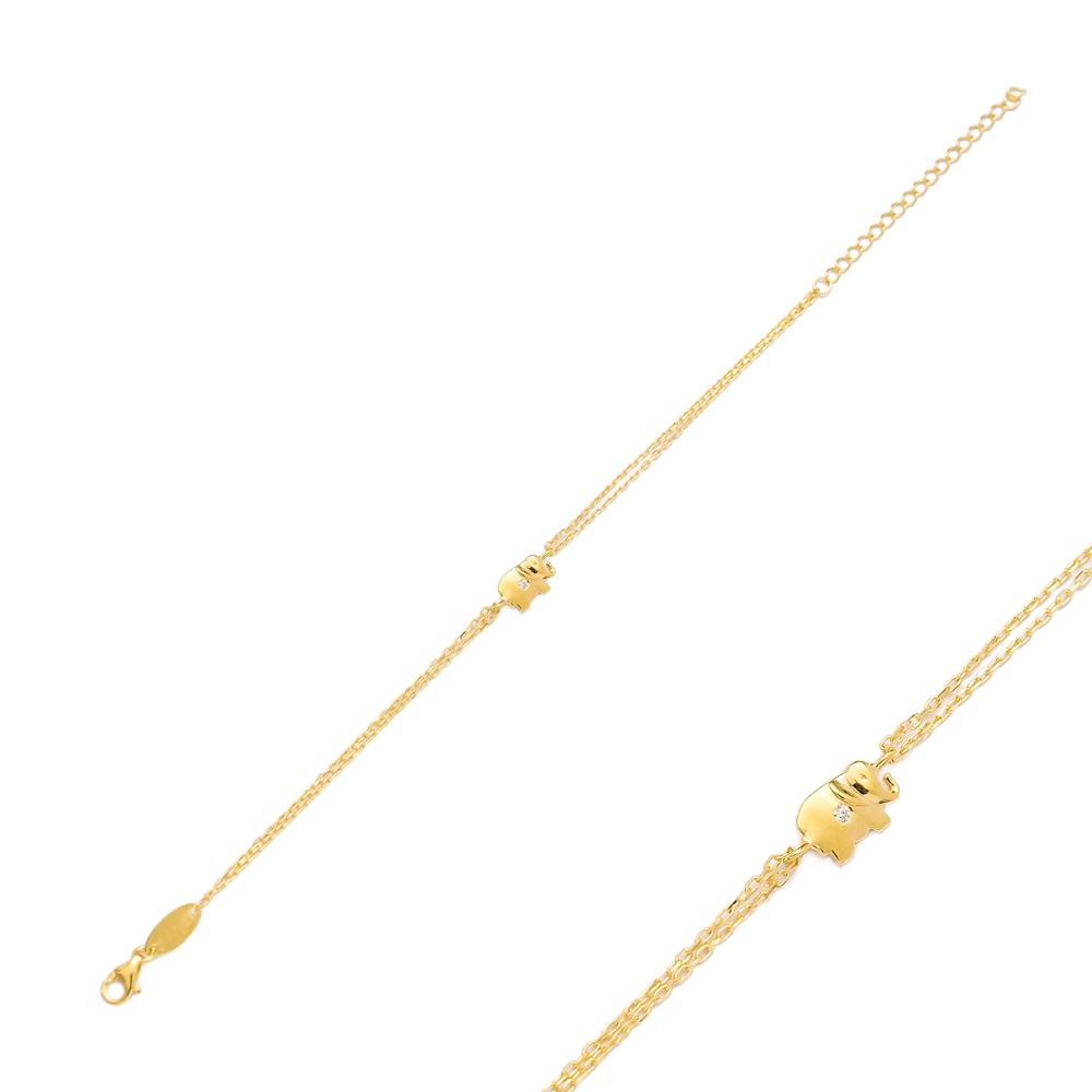 Elephant Design Bracelet Wholesale 925 Sterling Silver Jewelry