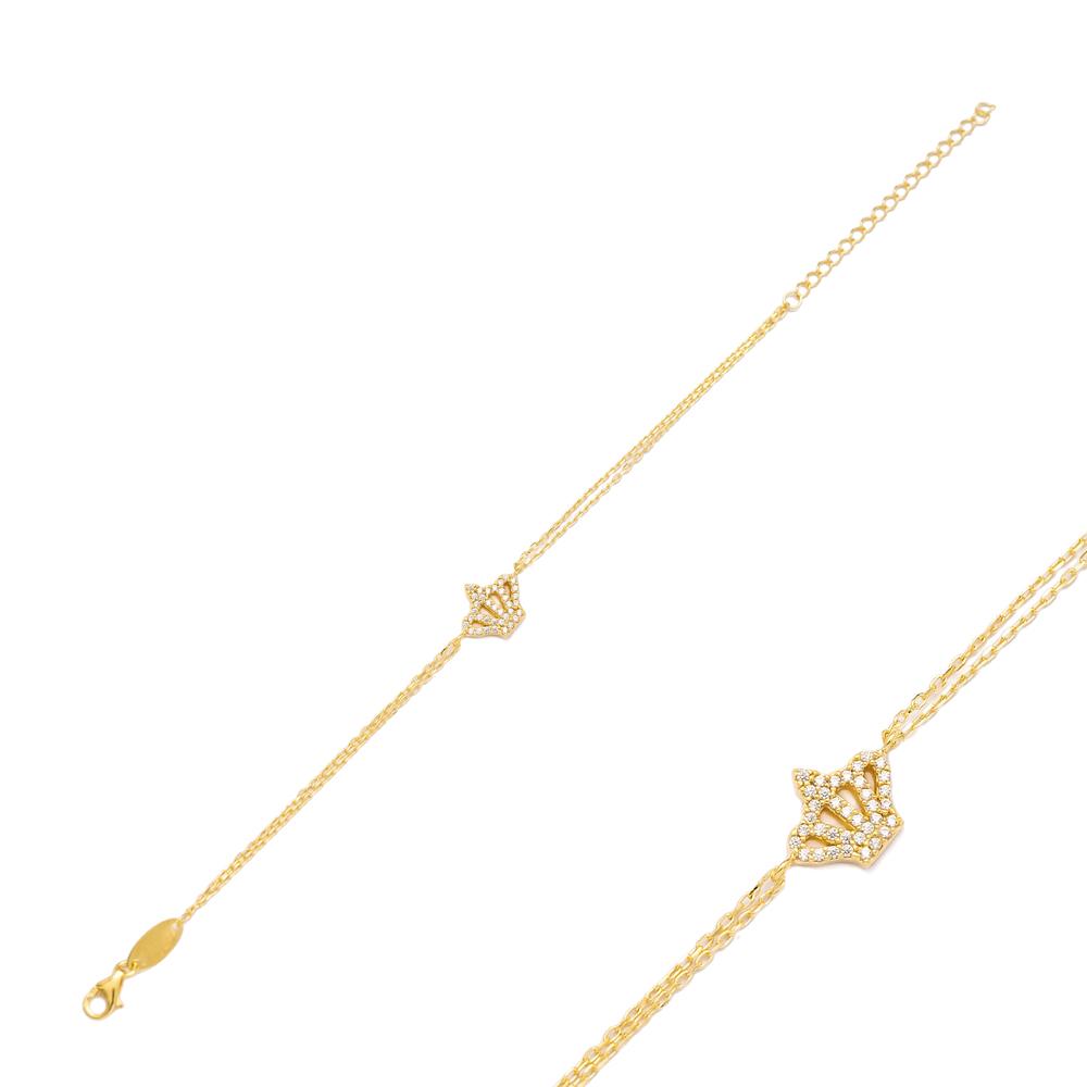 Crown Design Bracelet Wholesale 925 Sterling Silver Jewelry