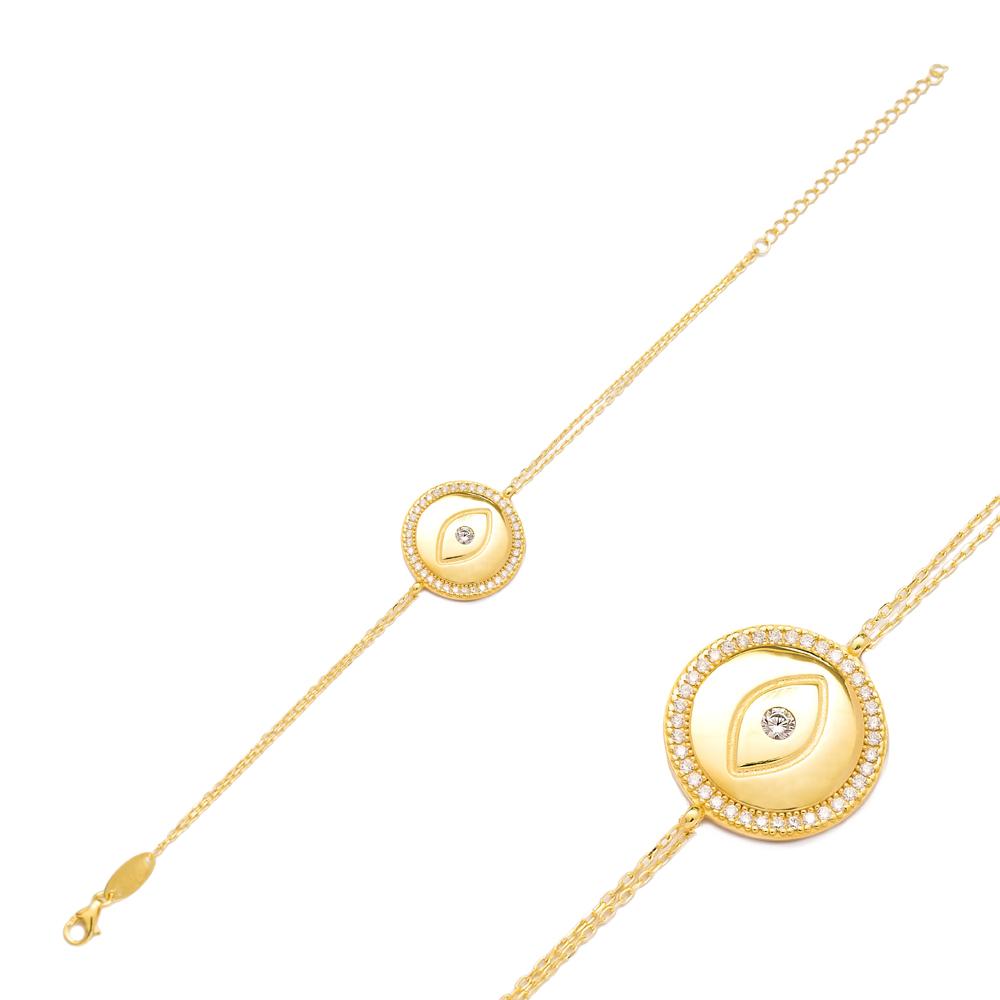 Evil Eye Design Bracelet Wholesale 925 Sterling Silver Jewelry