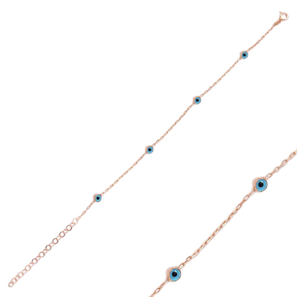 Basic Evil Eye Design Wholesale 925 Sterling Silver Bracelet