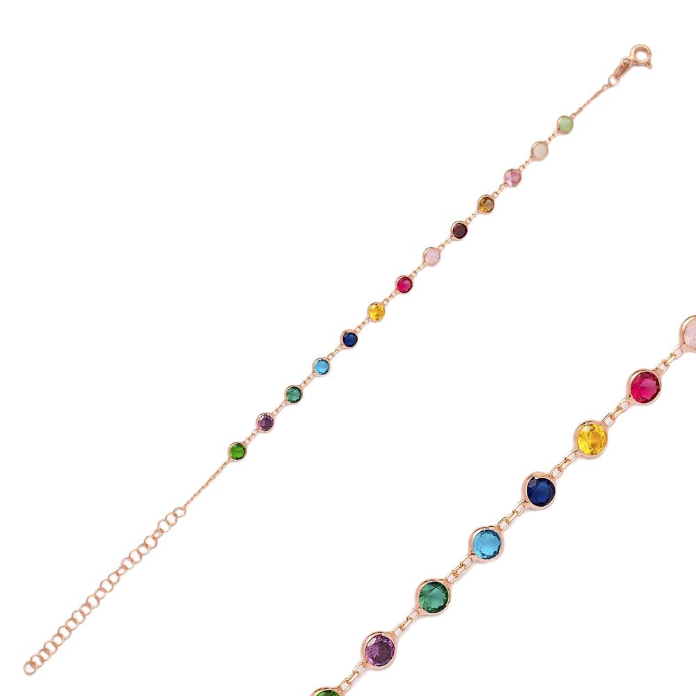 Rainbow Bracelet Wholesale 925 Sterling Silver Jewelry