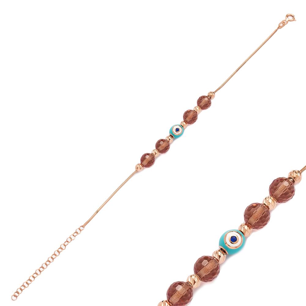 Enamel Charm Zultanite Stone Wholesale 925 Sterling Silver Bracelet