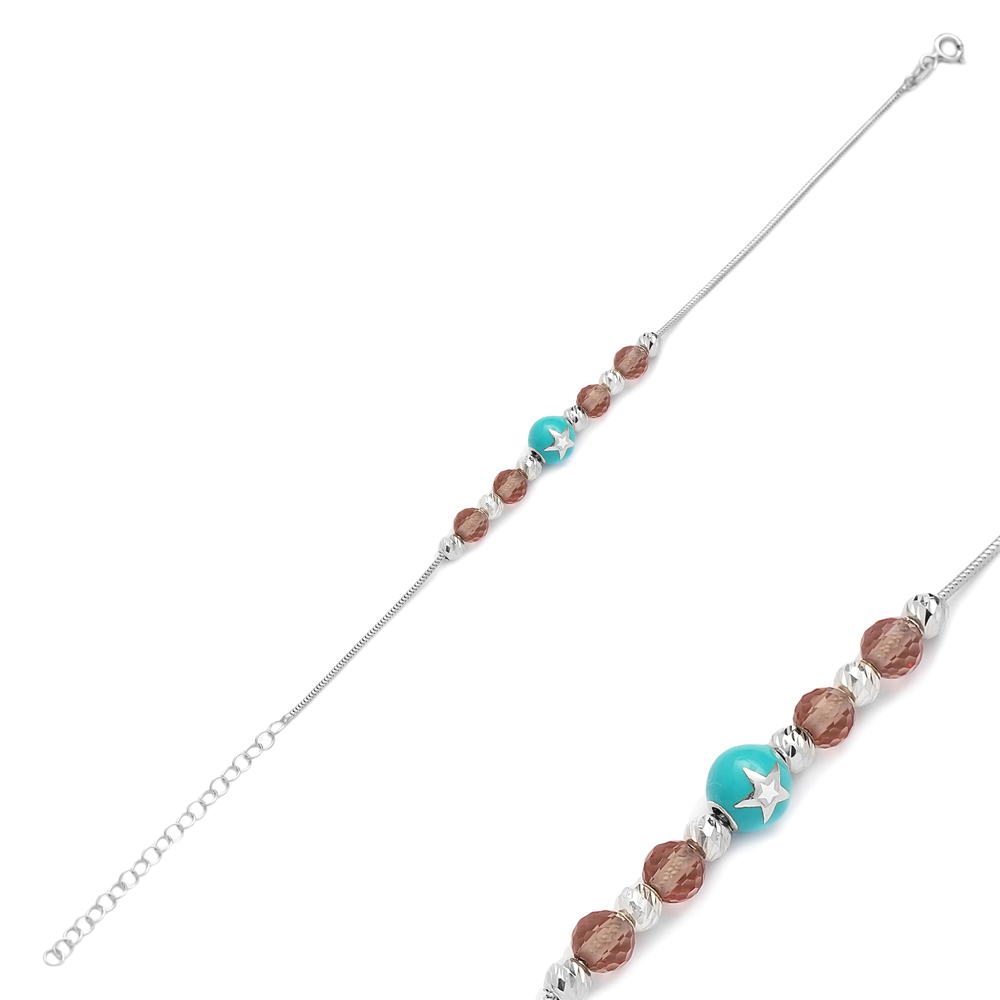 Star Charm Zultanite Stone Wholesale 925 Sterling Silver Bracelet