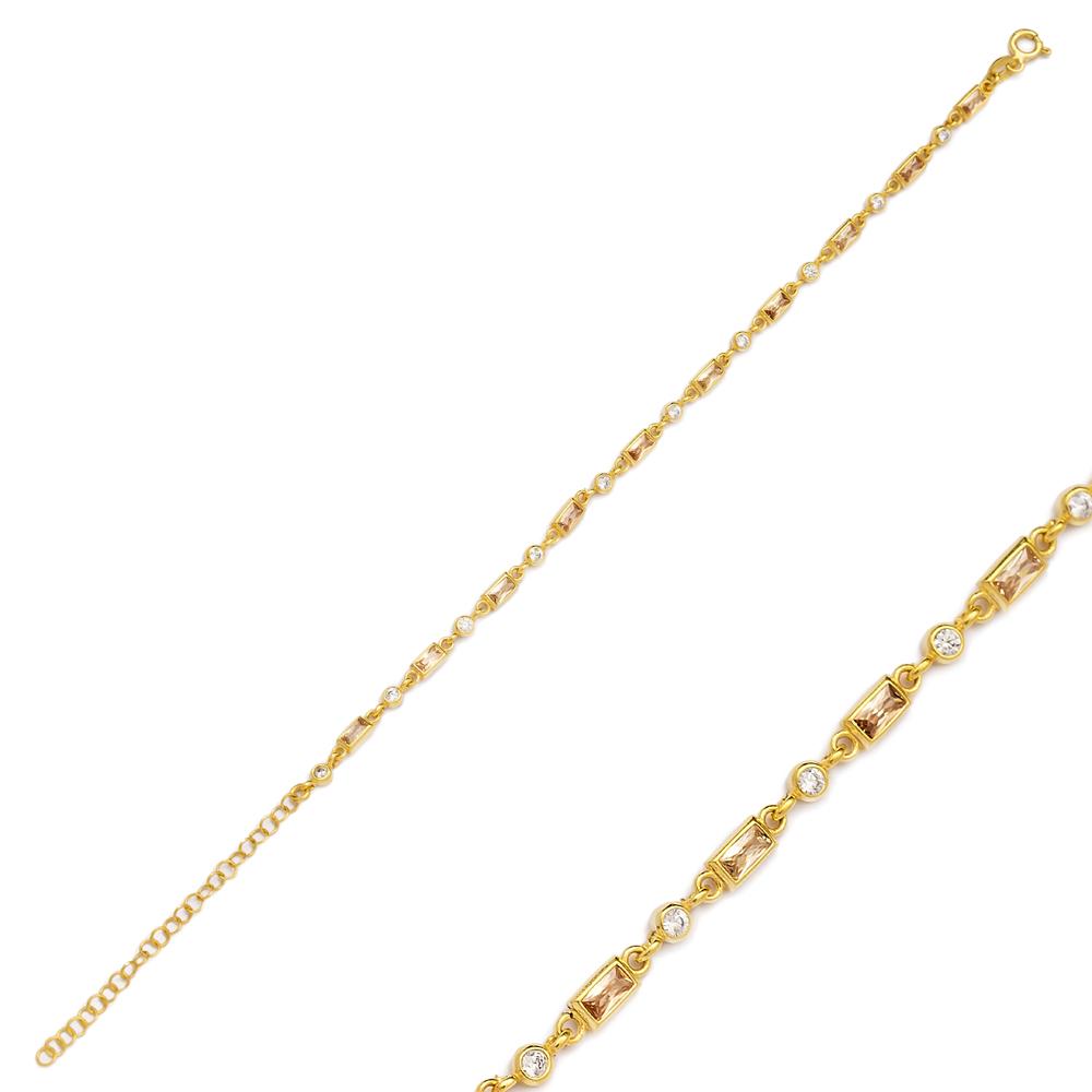 Citrine Stone Fashionable Bracelet Turkish Wholesale Handmade 925 Sterling Silver Jewelry