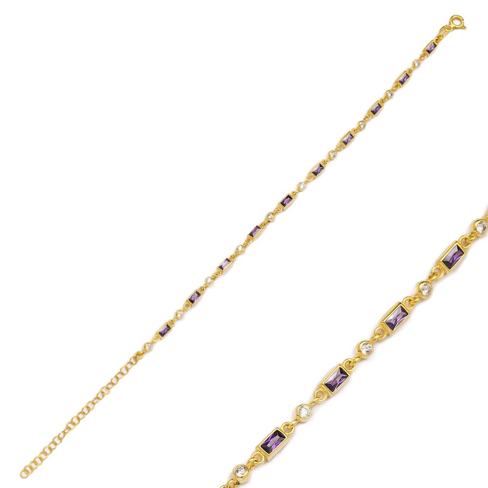 Amethyst Stone Unique Bracelet Turkish Wholesale Handmade 925 Sterling Silver Jewelry