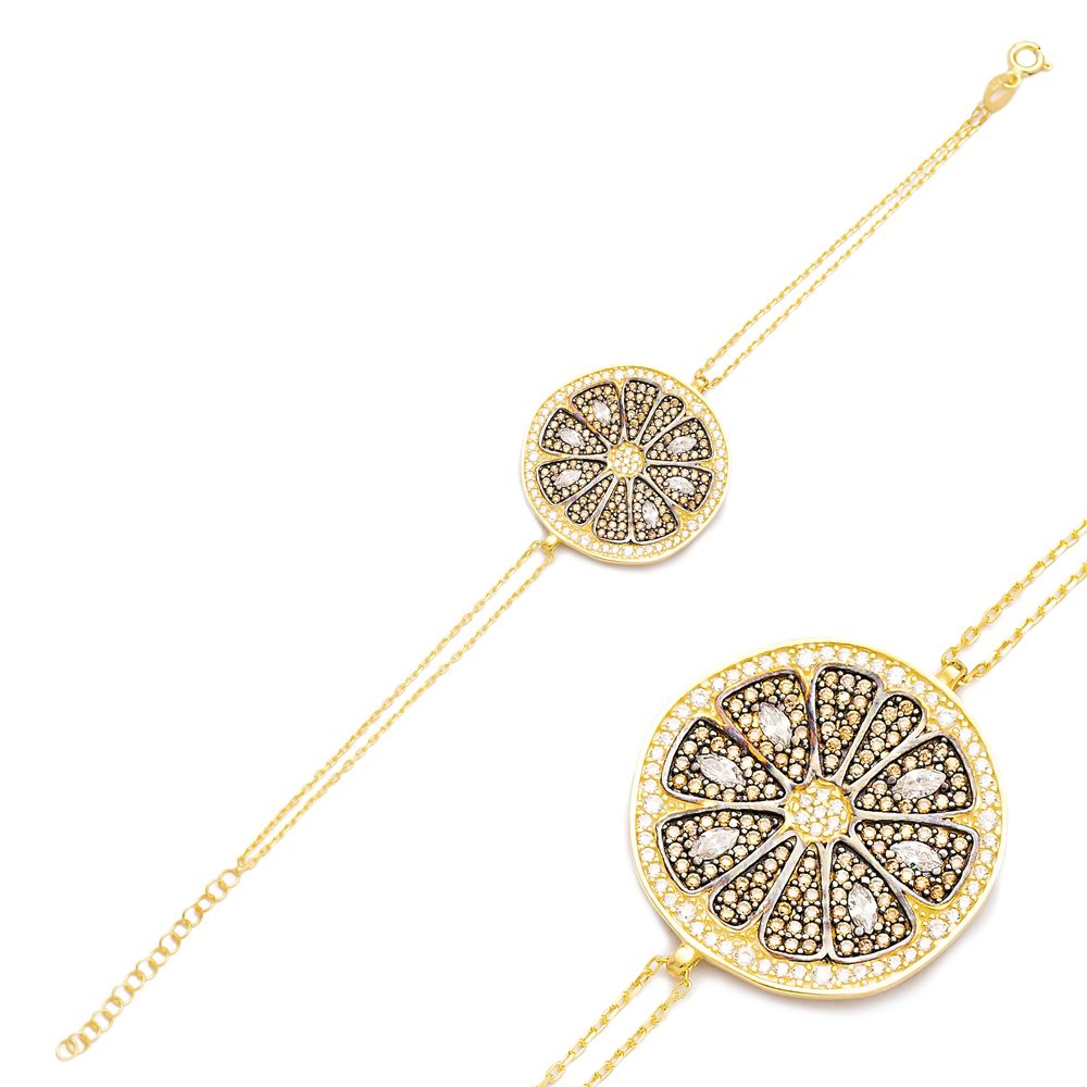 Fashionable Round Charm Design Bracelet Turkish Wholesale Handmade 925 Sterling Silver Jewelry