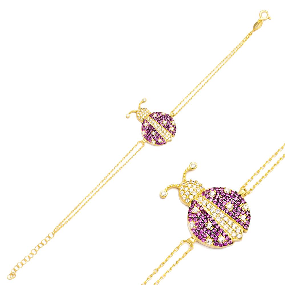 Ladybug Charm Design Bracelet Turkish Wholesale Handmade 925 Sterling Silver Jewelry