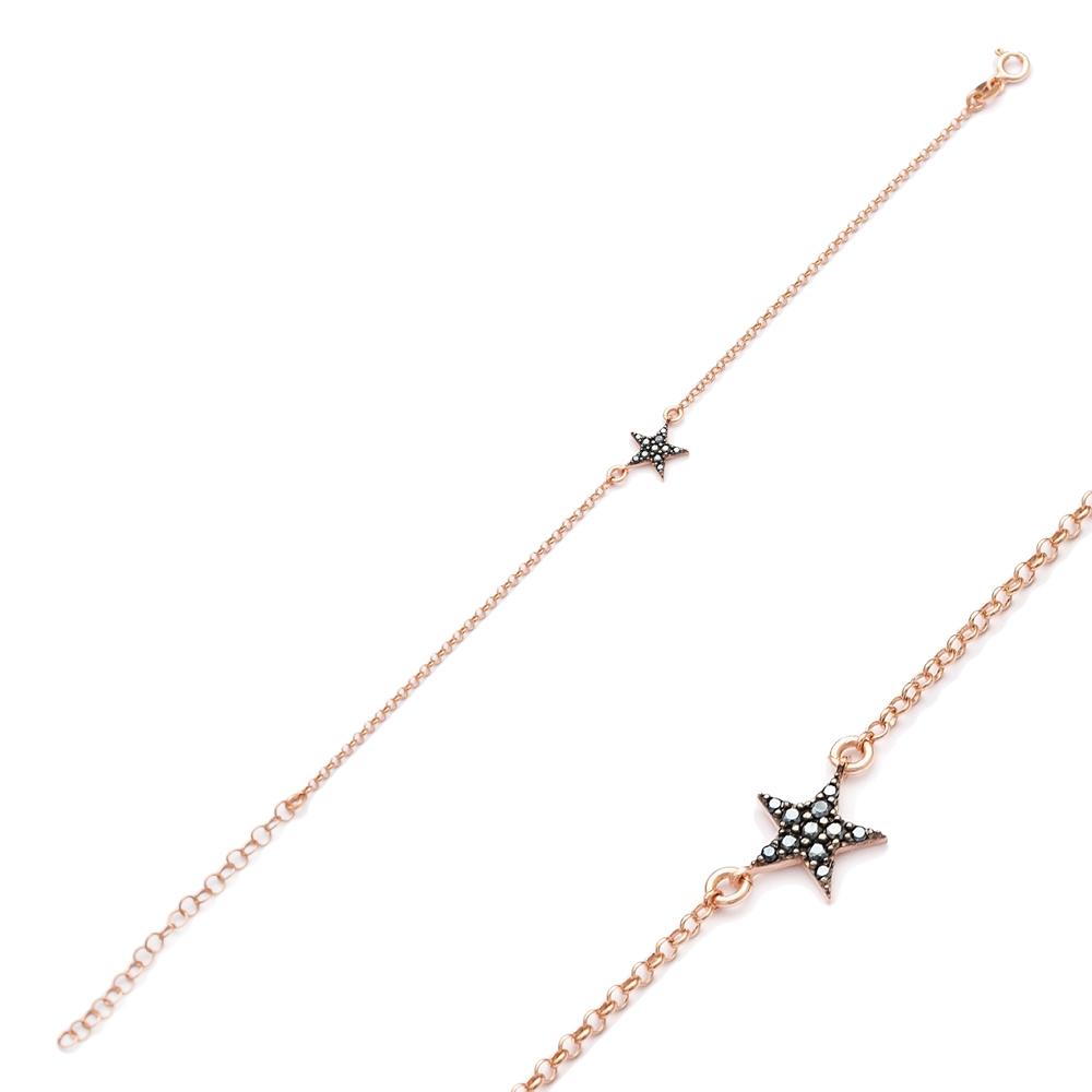 Minimalist Star Design Bracelet Turkish Wholesale Handcraft 925 Sterling Silver Jewelry