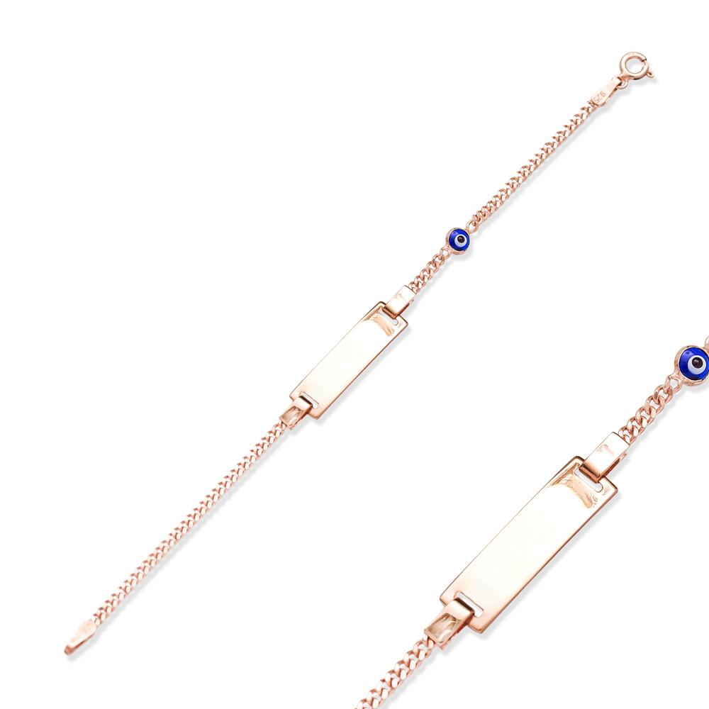 Kid Bracelets Tag Minimal Evil Eye Turkish Wholesale 925 Sterling Silver Jewelry