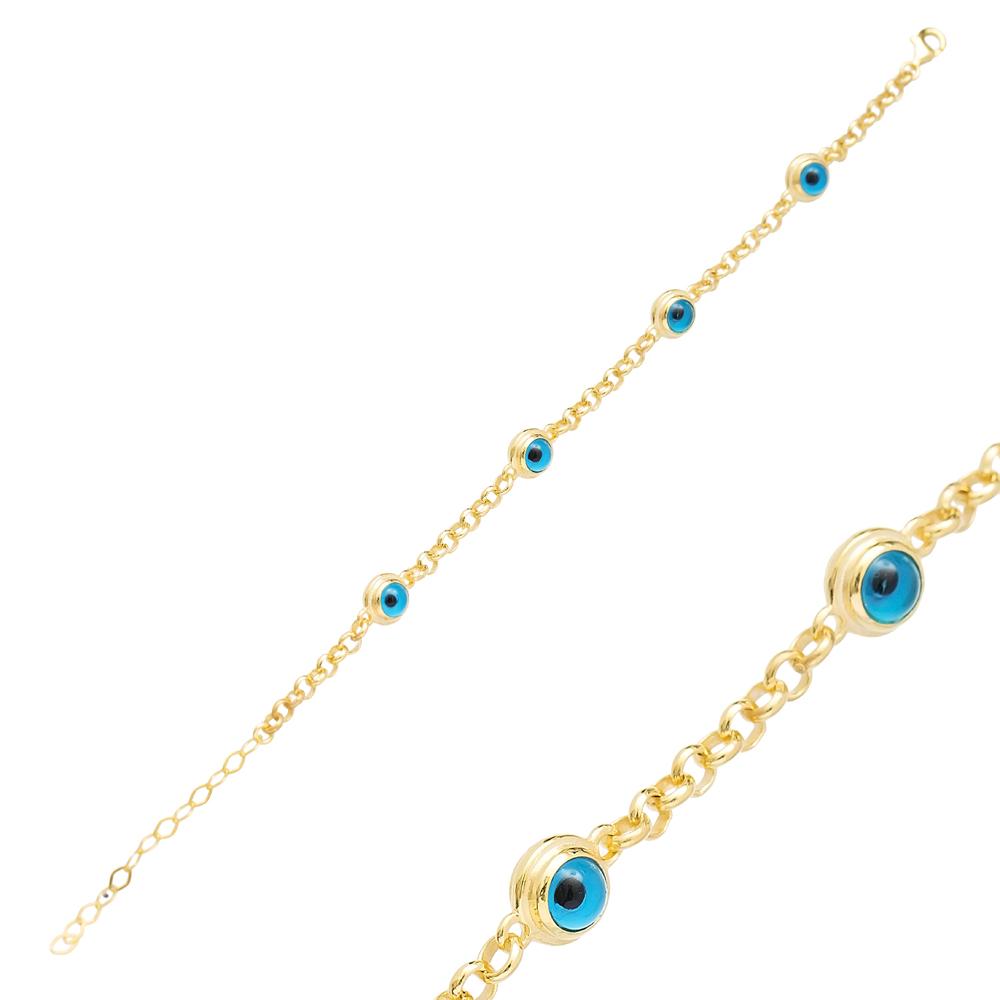 Turkish Evil Eye Design Bracelet Wholesale Turkish 925 Sterling Sİlver Jewelry