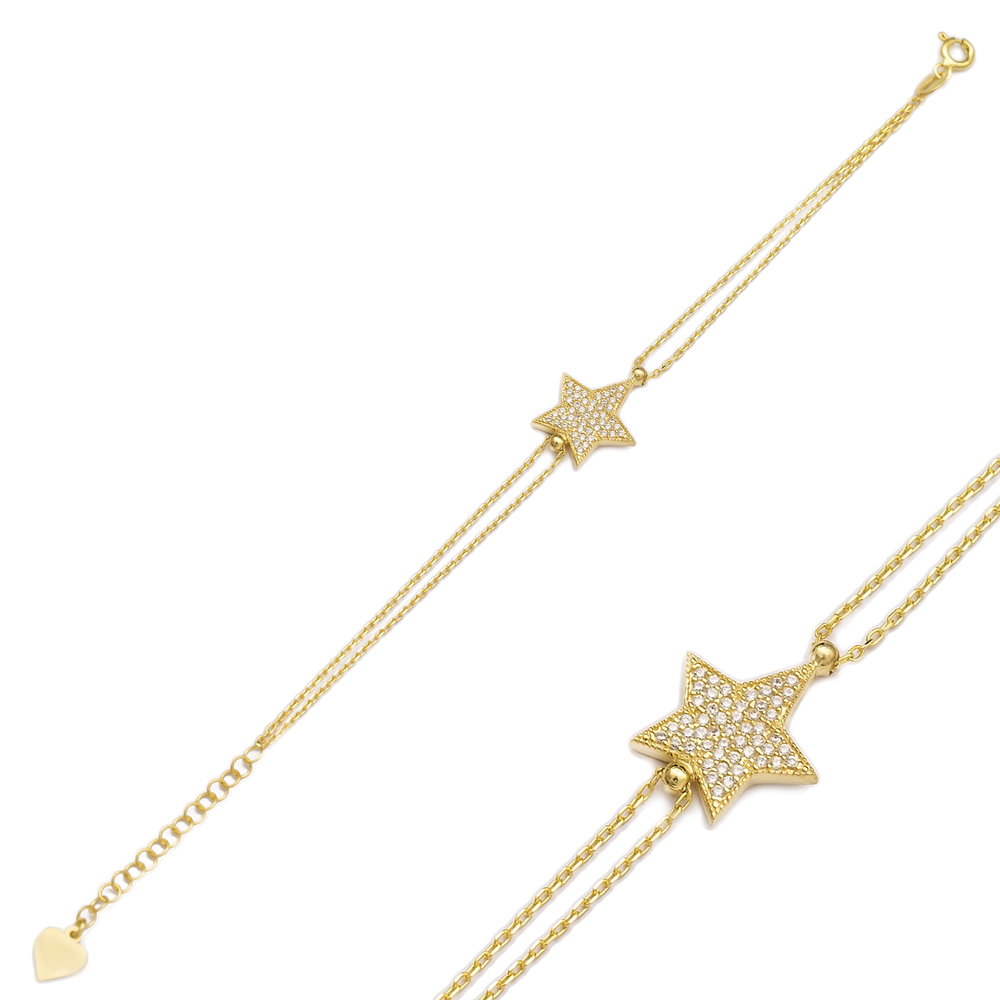 Star Design Zircon Sterling Silver Wholesale Handcraft Turkish Bracelet