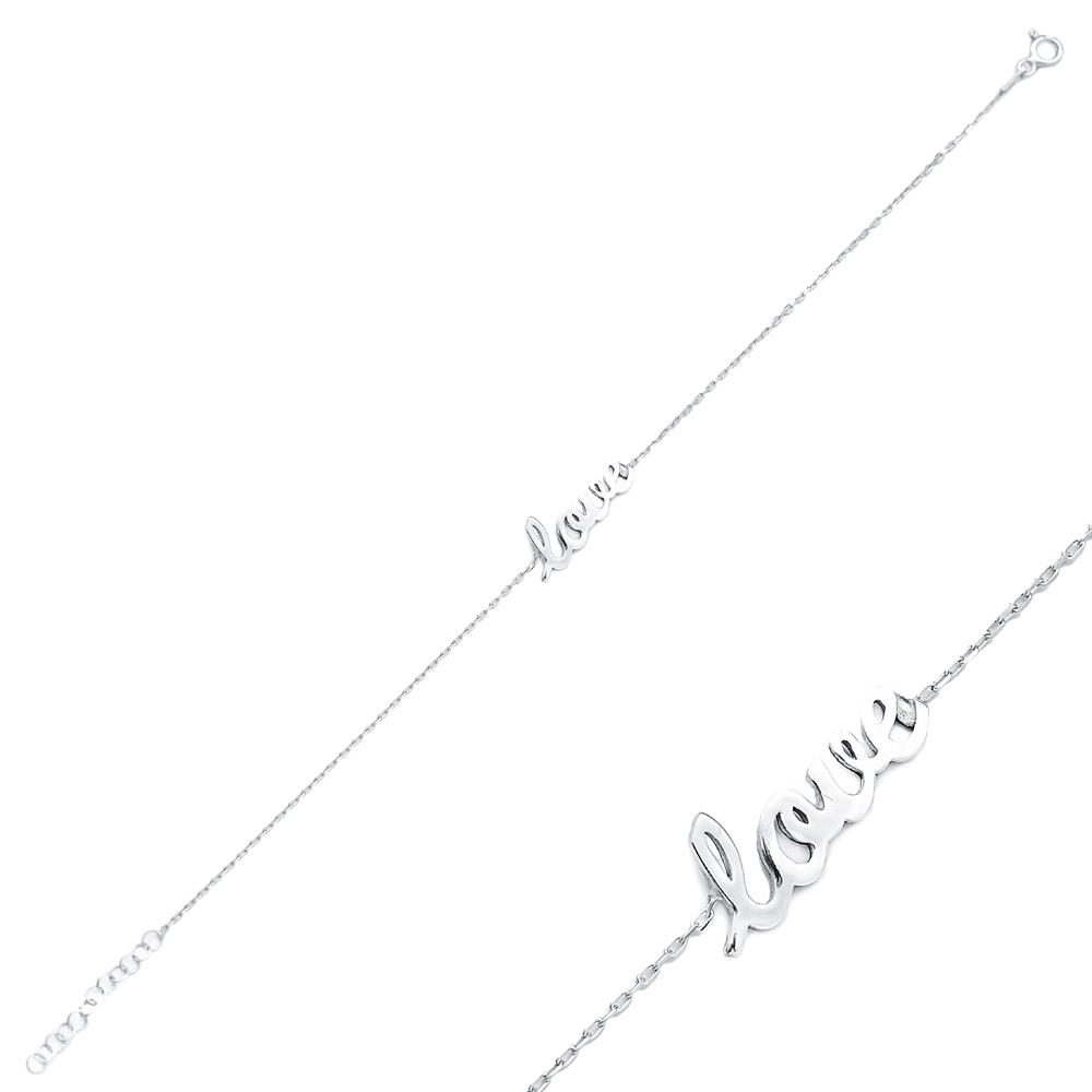 Love Design Charm Dainty Bracelet Wholesale Turkish 925 Sterling Silver Jewelry