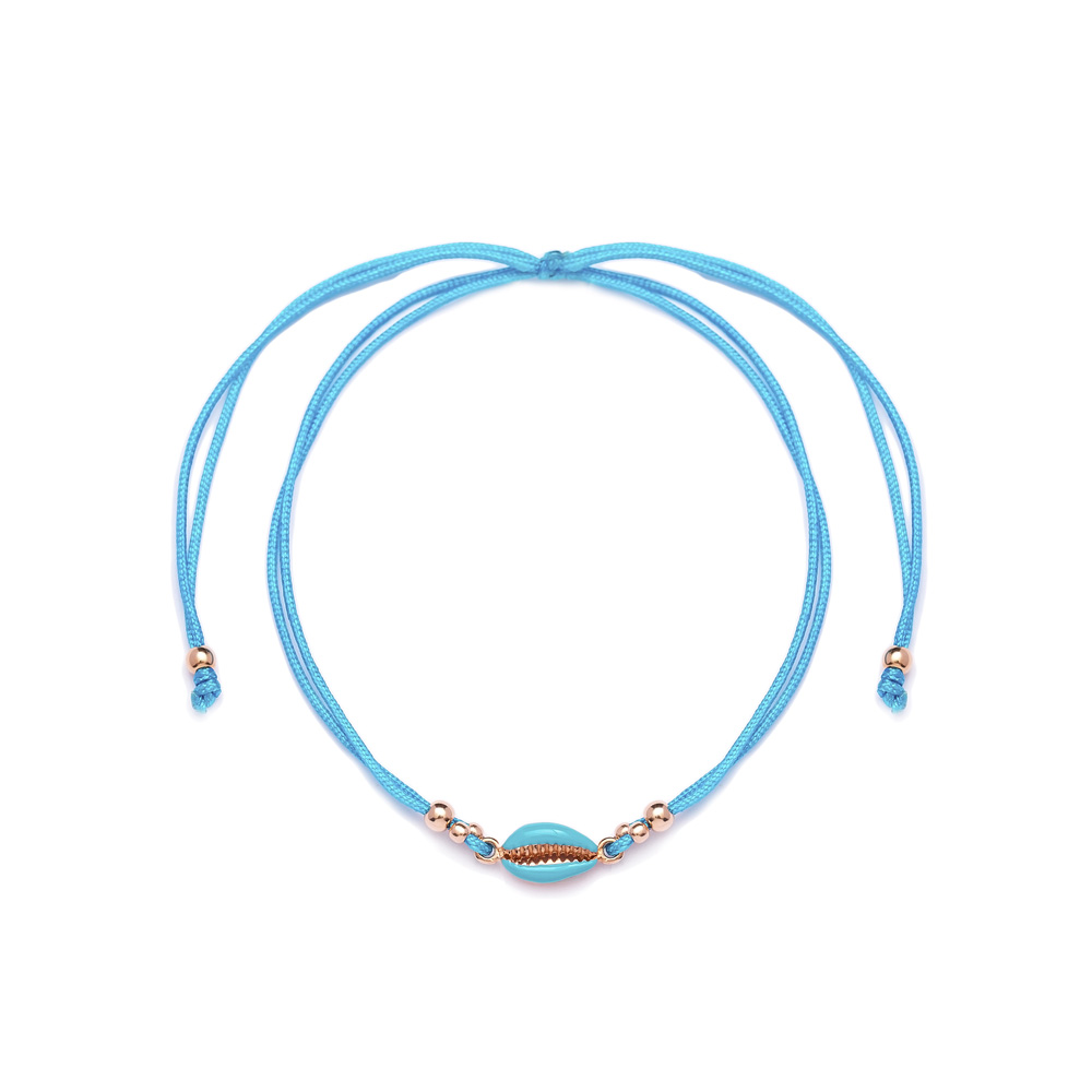 Turquoise Color 14x6 mm Size Seashell Design Adjustable Knitting Bracelet Turkish Wholesale Handmade 925 Sterling Silver