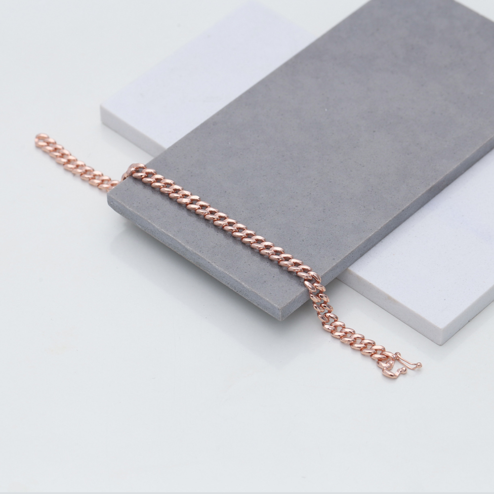 Handmade Silver Chain Charm Bracelet Wholesale Turkish 925 Sterling Silver Jewelry
