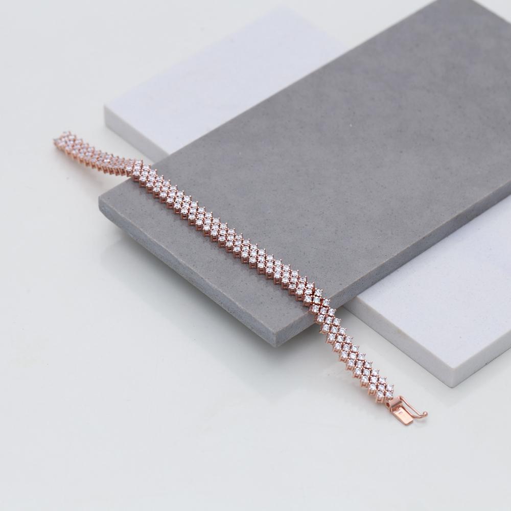 Unique Design Zircon Silver Charm Bracelet Wholesale Turkish 925 Sterling Silver Jewelry