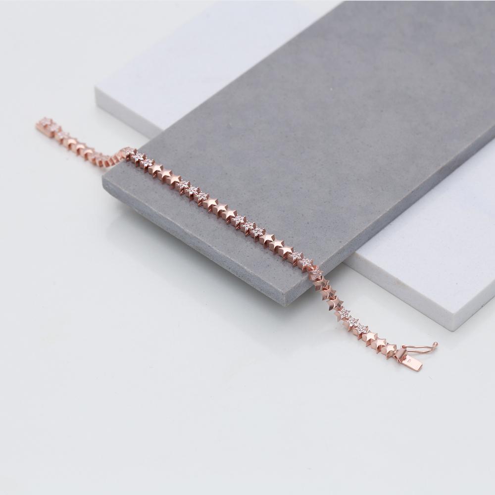 Star Trendy Silver Charm Bracelet Wholesale Turkish 925 Sterling Silver Jewelry