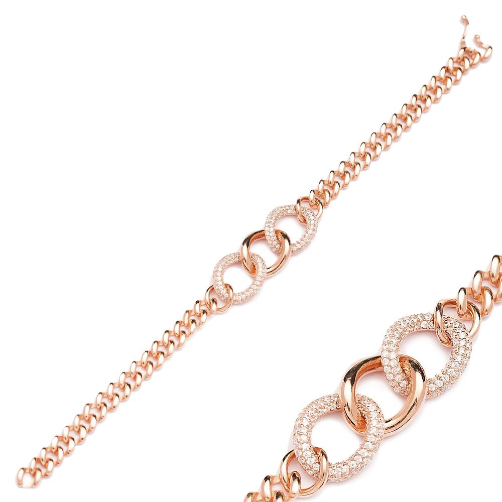 Zircon Stone Dainty Charm Bracelet Wholesale Turkish 925 Sterling Silver Jewelry