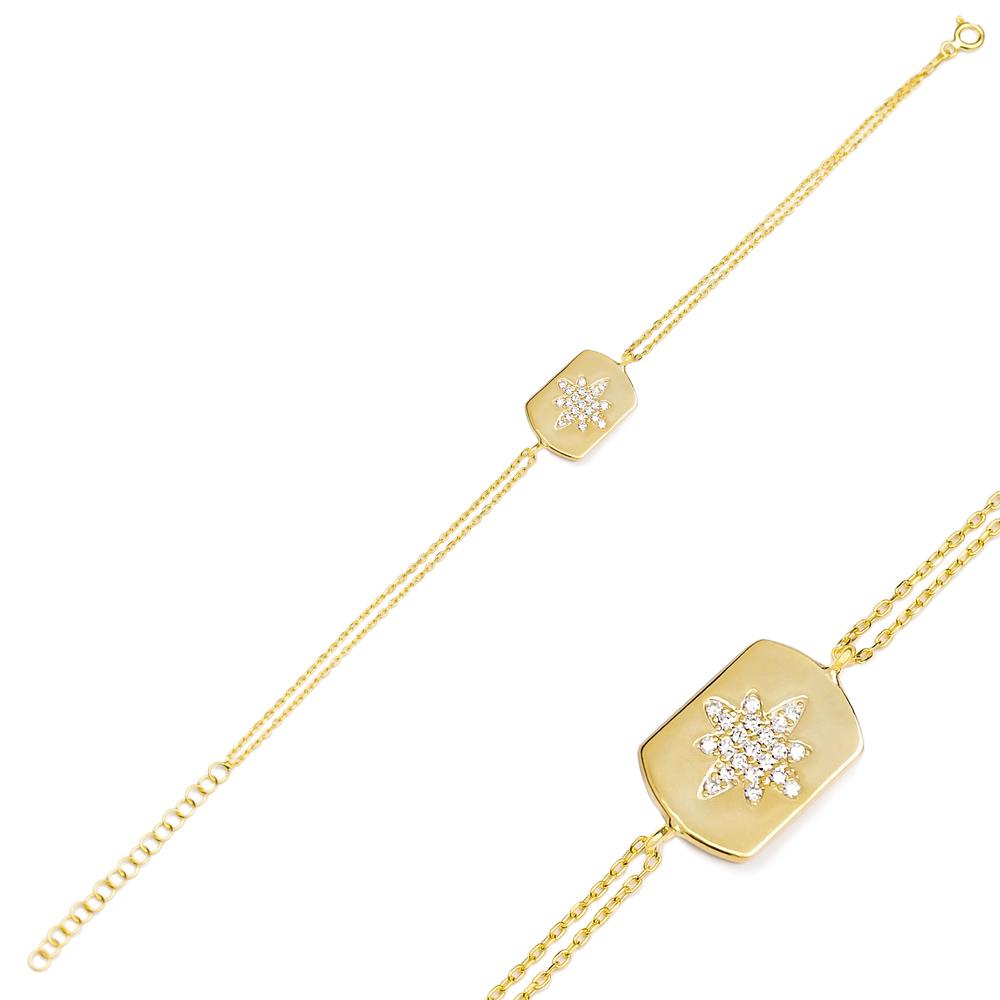 Zircon Trendy Charm Bracelet Wholesale Turkish 925 Sterling Silver Jewelry