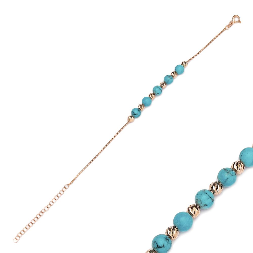 Minimalist Blue Ball Design Charm Bracelet Wholesale 925 Sterling Silver Jewelry