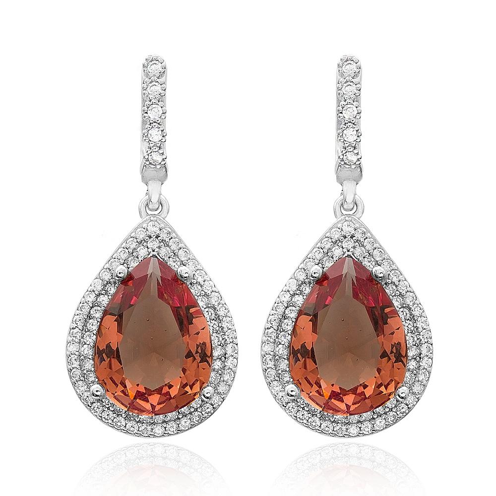 New Fashion Zultanite Stone Drop Earrings Turkish Wholesale 925 Sterling Silver Jewelry