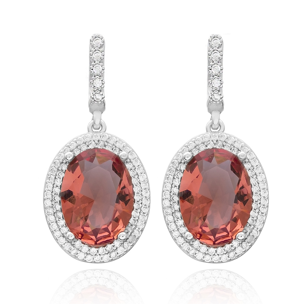 New Trendy Zultanite Stone Oval Earrings Turkish Wholesale 925 Sterling Silver Earring