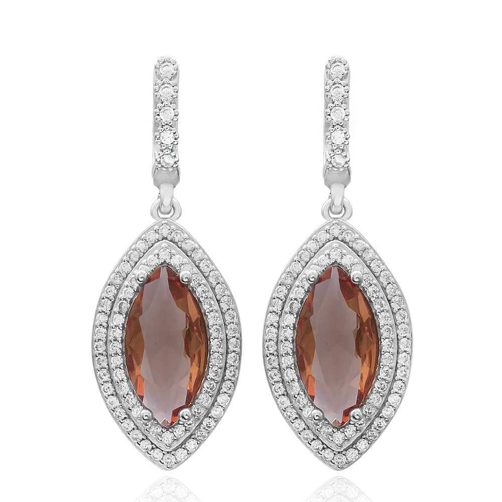 Oval Shape Zultanite Stone Earrings Turkish Wholesale 925 Sterling Silver Jewellery