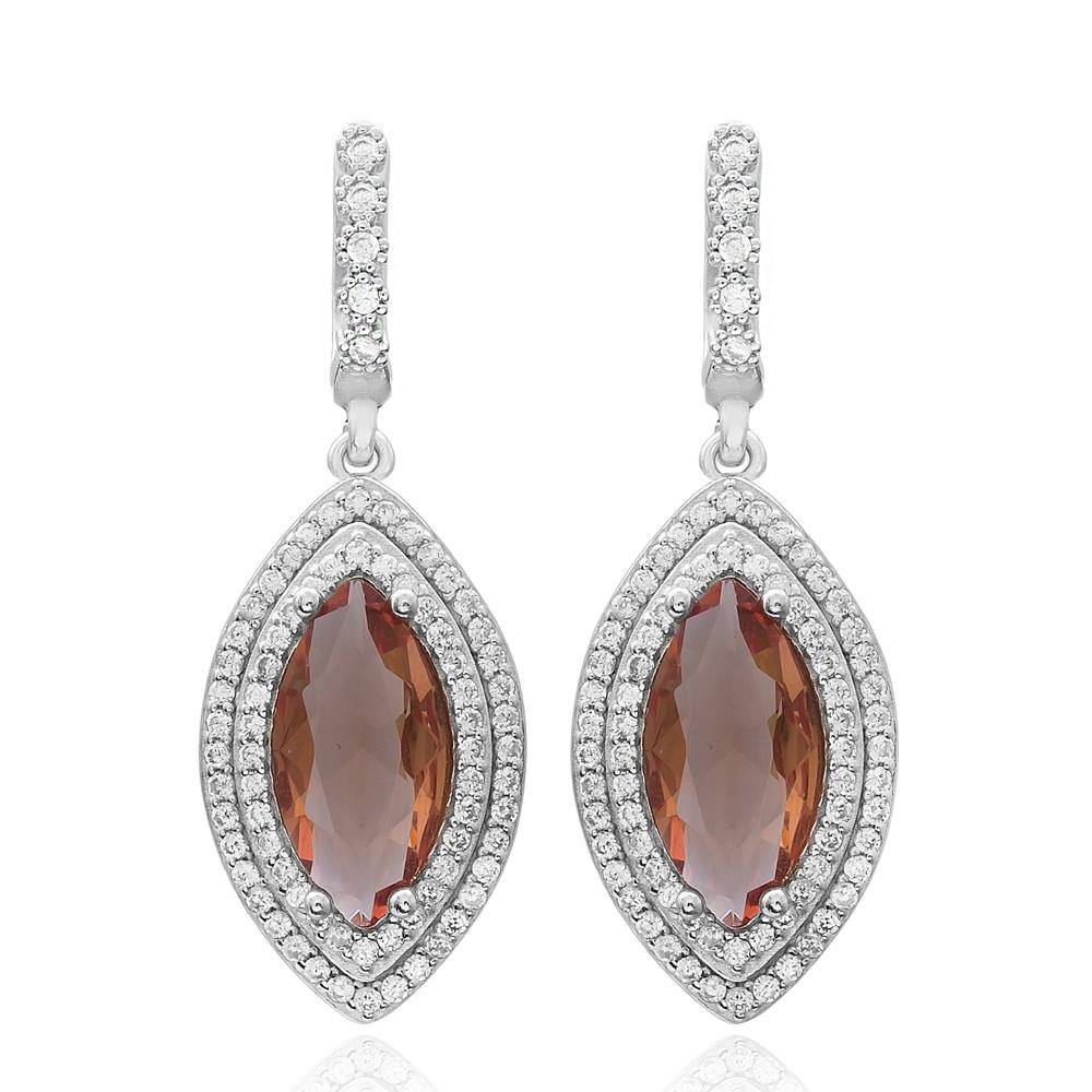 Oval Shape Zultanite Stone Earrings Turkish Wholesale 925 Sterling Silver Jewellery