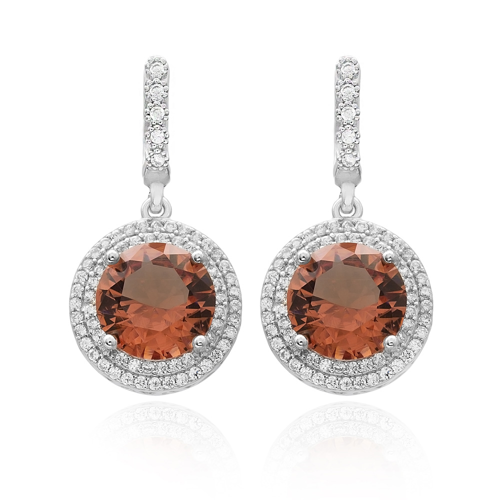 Round Shape Zultanite Stone Earrings Turkish Wholesale 925 Sterling Silver Jewellery