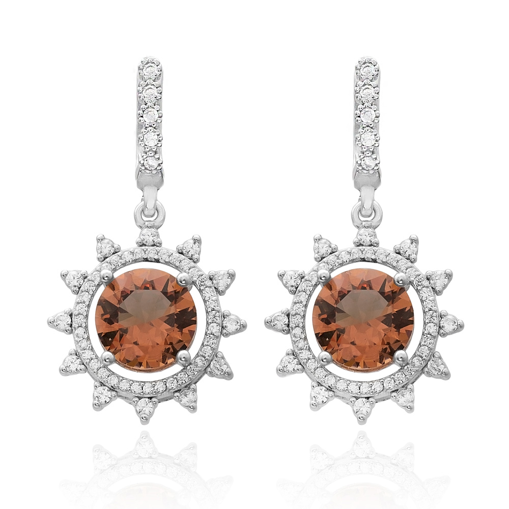 Elegant Design Zultanite Stone Earrings Turkish Wholesale 925 Sterling Silver Jewelry